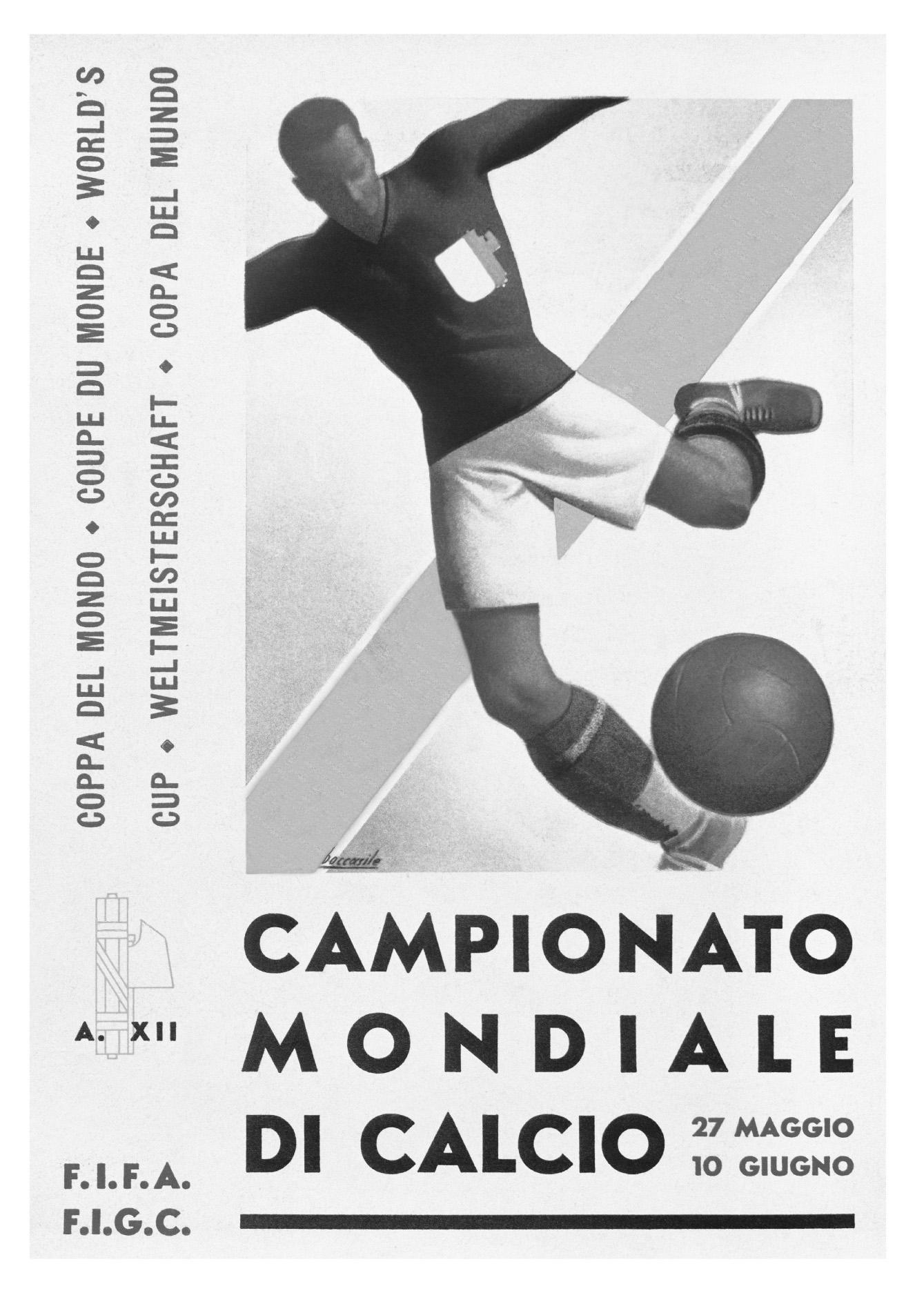 CAMPIONATO MONDIALE DI CALCIO 27 MAGGIO 10 GIUGNO A. XII F.I.F.A. F.I.G.C. COPPA DEL MONDO COUPE DU MONDE WORLD'S CUP WELTMEISTERSCHAFT COPA DEL MUNDO